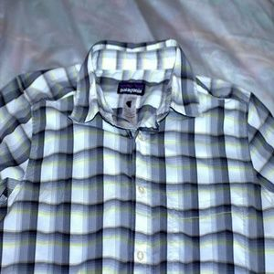 PATAGONIA Men's Plaid Long Sleeve Button Up Xs